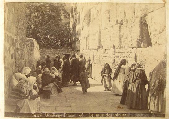 Gammal bild från Jerusalem
