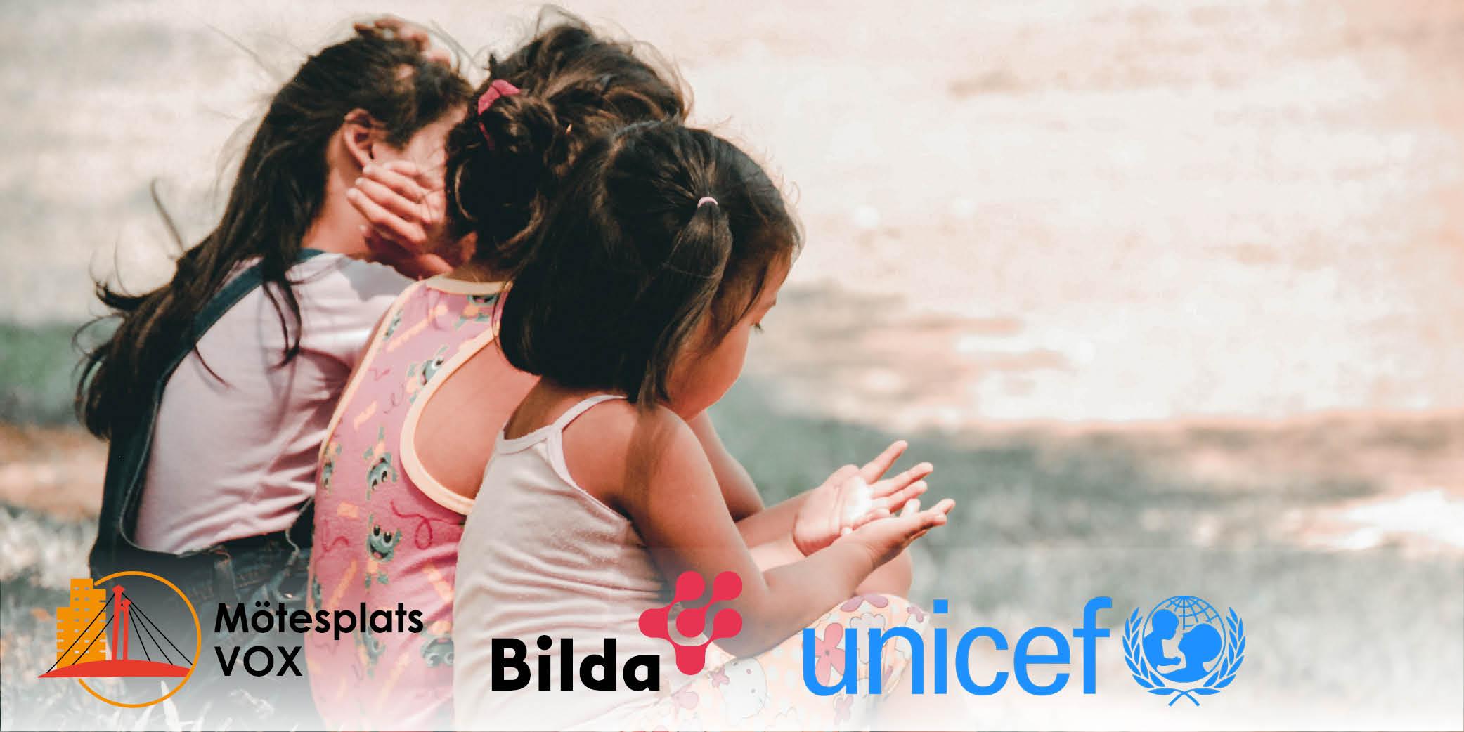 Barngrupp med UNICEF