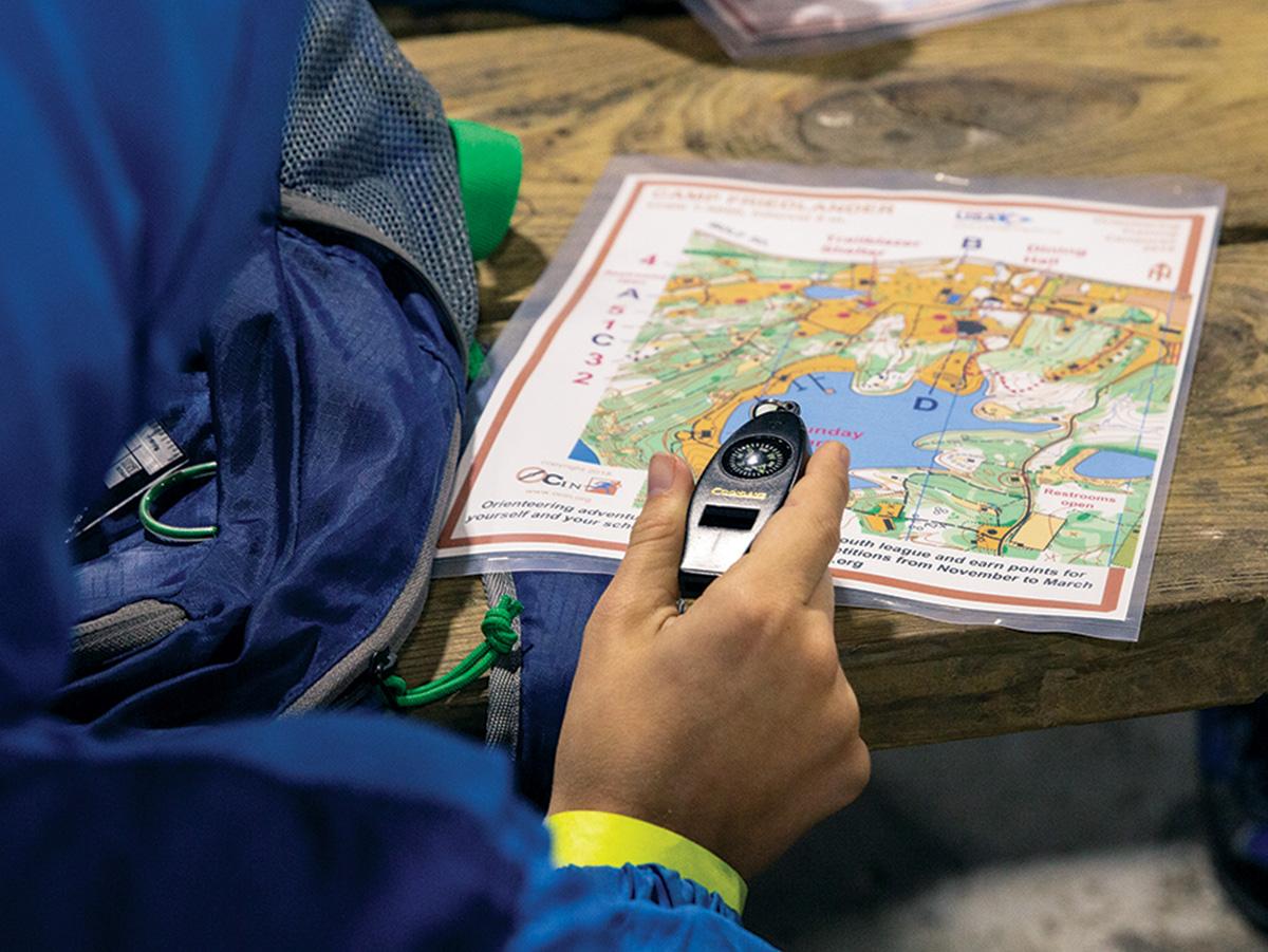 Scoutledarutbildning i orientering