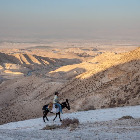 utsikt över landskap i Israel och Palestina