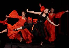 Traditionell kinsesisk dans och modern dans