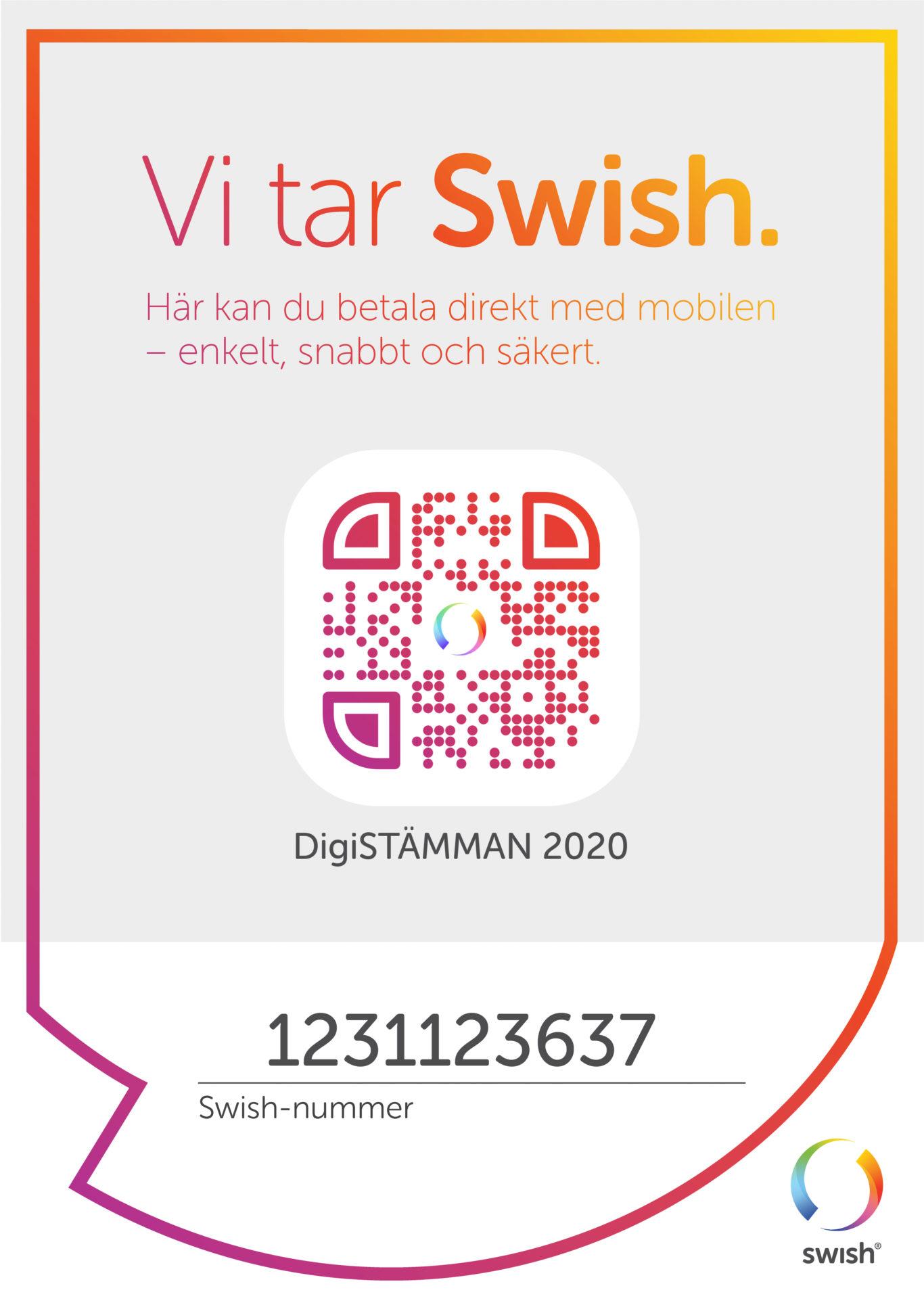QR-kod för digistämman 2020
