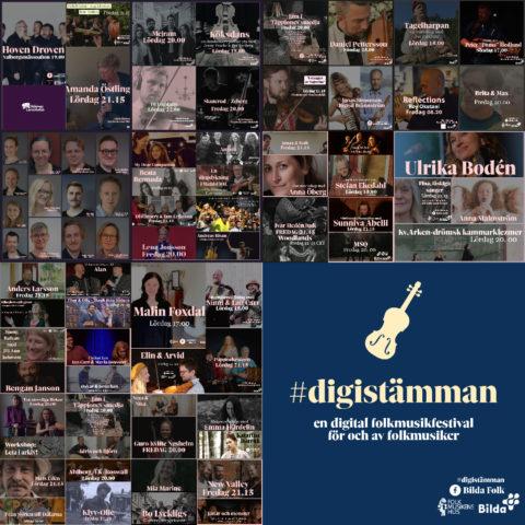 Bildkollage på samtliga musiker som medverkat i digistämman
