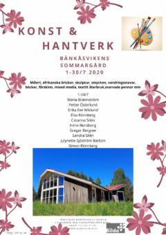 Konst & Hantverk på Bänkåsviken 1 – 14 juli 2020